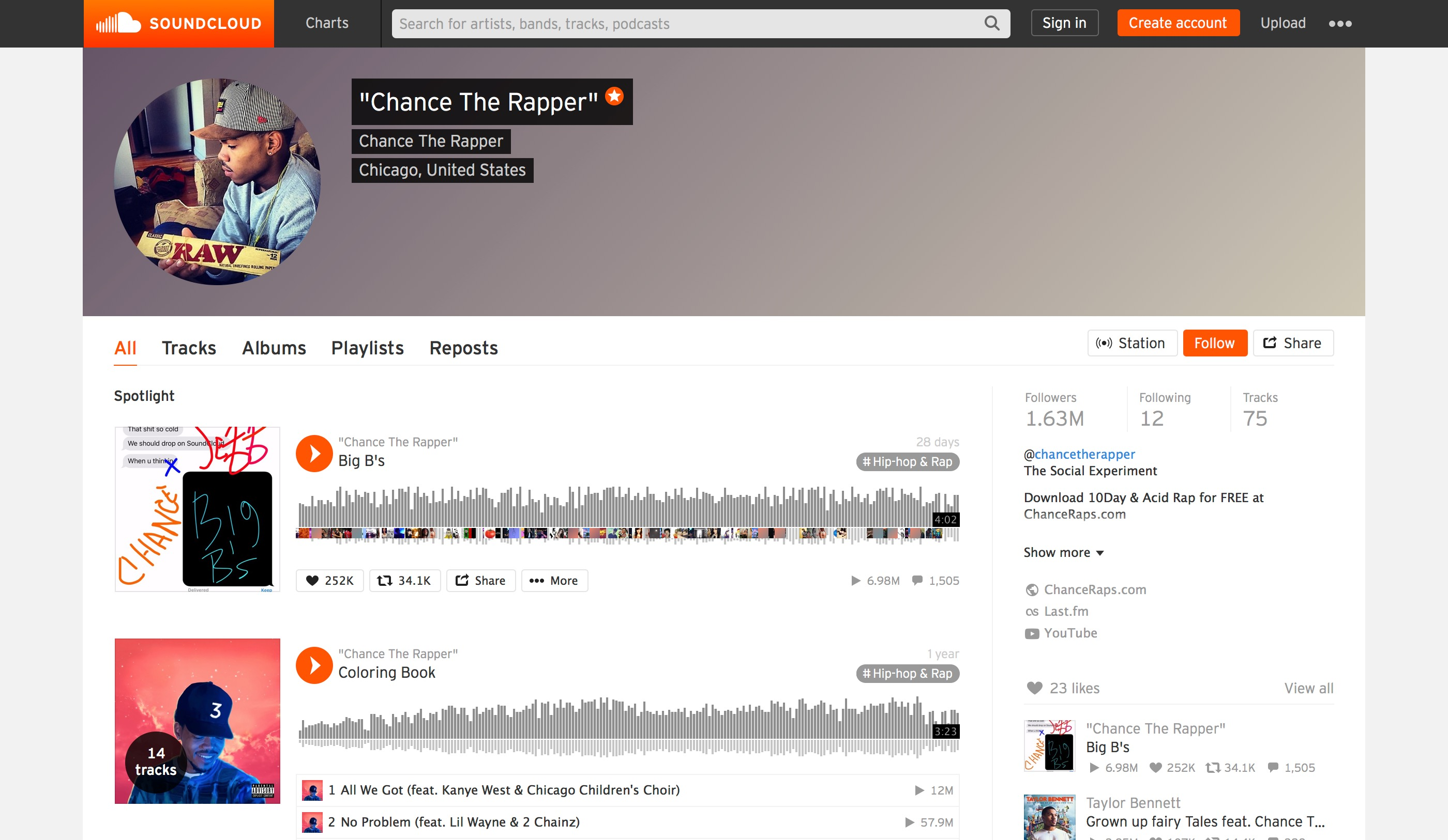 Chance The Rapper | SoundCloud